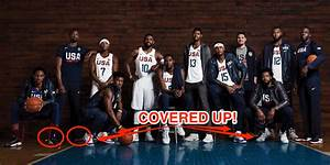 The photo of the US men's Olympic basketball team covers ...
