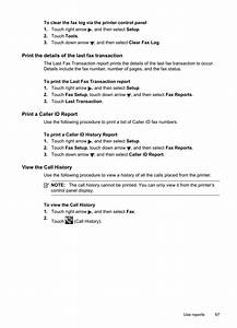 Print The Details Of The Last Fax Transaction  Print A