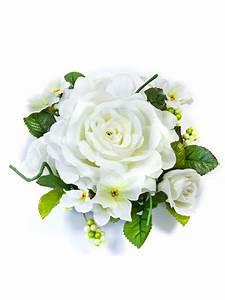 Rose Blanche Artificielle : centre de table fleurs artificielles roses blanches 20 cm d coration anniversaire et f tes ~ Teatrodelosmanantiales.com Idées de Décoration