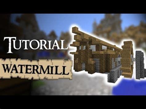 minecraft tutorial   build  medieval watermill youtube