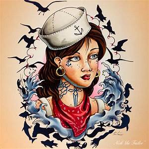 Sailor Pinup Girl Tattoos images