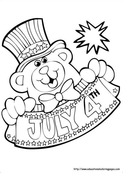 july coloring pages educational fun kids coloring