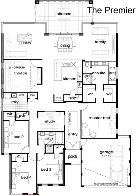 single story 4 bedroom house plans single storey house plan search houseplans
