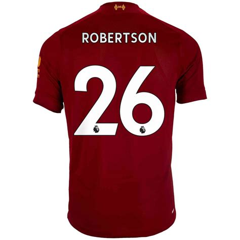 Liverpool fc home shirt jersey 2018/19 replica new balance size 20 (kid). 2019/20 New Balance Andrew Robertson Liverpool Home Jersey ...