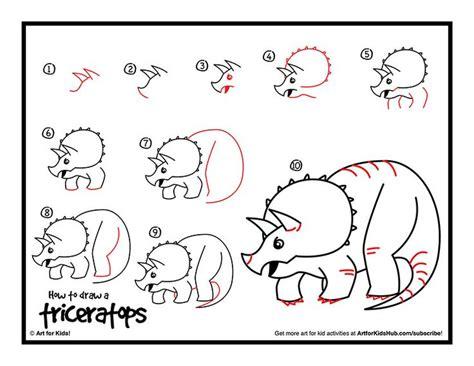 draw dinosaurs ideas  pinterest dino