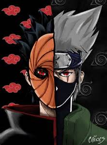 Naruto Tobi and Kakashi
