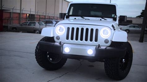 oracle jeep wrangler sahara  white leds youtube
