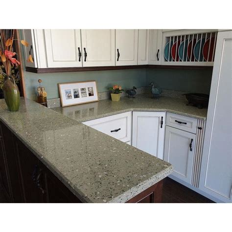 Recycled Glass Countertops Lowes by Curava Lemongrass Recycled Glass Kitchen Countertop Sle