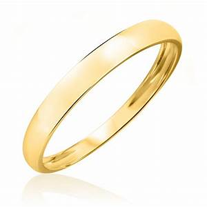 No DiamondsMen39s Wedding Band 10K Yellow Gold My Trio