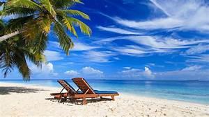 Bilder Am Strand : palmen paradies strand liegestuhl meer sommer tropisch 3840x2160 uhd 4k hintergrundbilder ~ Watch28wear.com Haus und Dekorationen