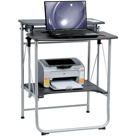 folding computer desk comfort products freely folding computer desk 307423