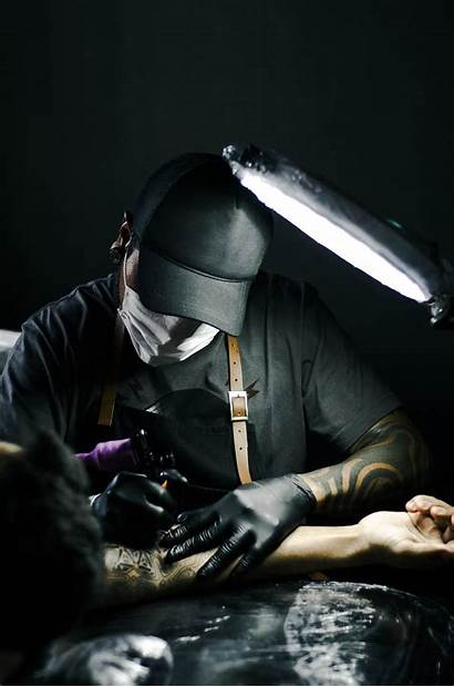 Artist Tattoo Arm Gloves Person Drawing Domain