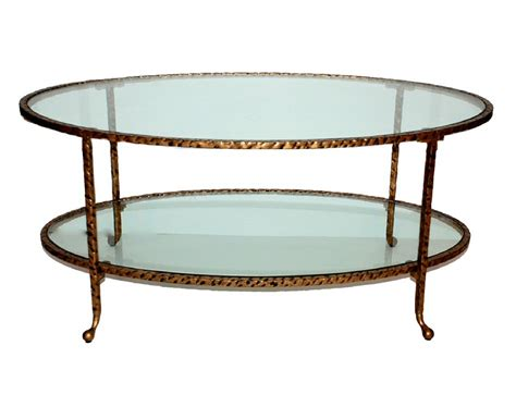 oval glass coffee table antique gold hammered iron oval coffee table with glass