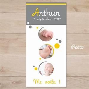 faire part naissance gris et jaune theme bulles sweet With déco chambre bébé pas cher avec faire part bapteme fleur