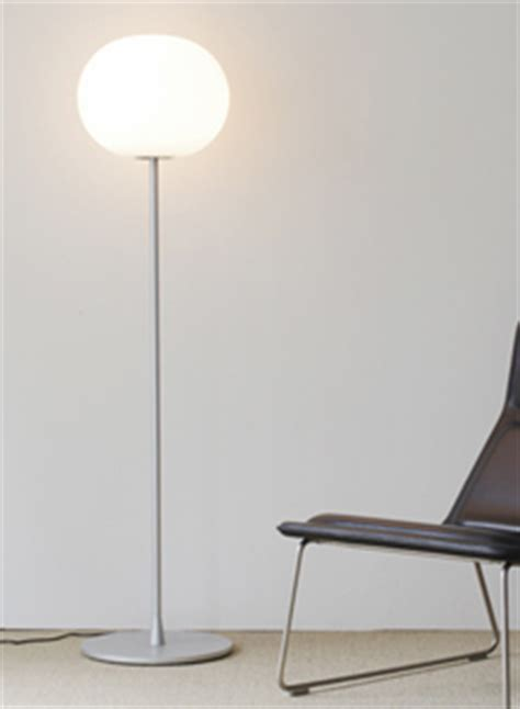 Flos White Glo Ball Floor Lamp by Flos Lighting   Stardust