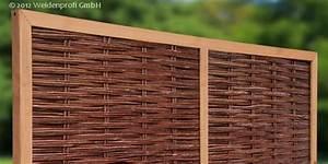 Holzpfosten Mit Nut : weidenz une klassischer sichtschutz aus naturgeflecht ~ Yasmunasinghe.com Haus und Dekorationen