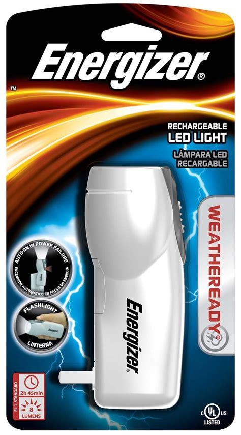 energizer night light flashlight energizer rcl1nm2wr weatheready compact rechargeable led