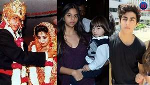 Shahrukh Khan With Wife Gauri Khan & kids AbRam Khan ...