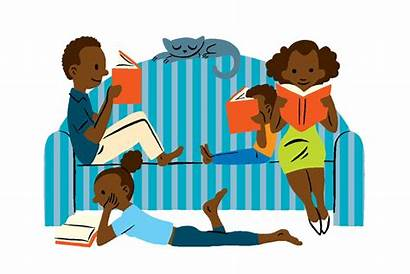 Books Clipart Reading Cartoon Reader Clip Read