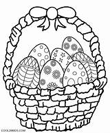 Basket Easter Coloring Eggs Computer sketch template