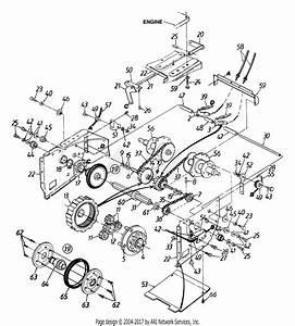 Mtd 315e756g190 Snow Boss 950st  1995  Parts Diagram For