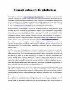 college scholarship personal statement examples assignment on water pollution