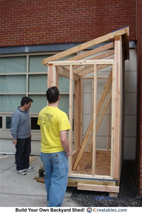 4x8 Lean To Shed Build   Out Doors   Pinterest   Lean to