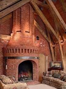 clay chapman brick monumental fireplace design