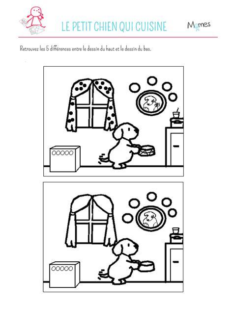 de jeux de cuisine jeu des 5 erreurs le petit chien qui cuisine momes