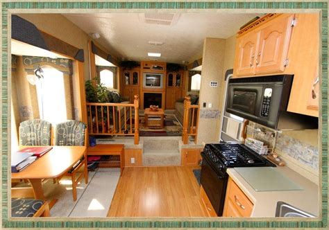 Stylish Front Living Room 5th Wheel Travel Trailers Home