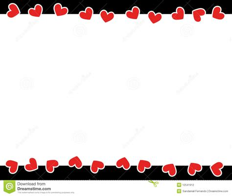 Red Hearts Valentine's Day Border Stock Vector ...