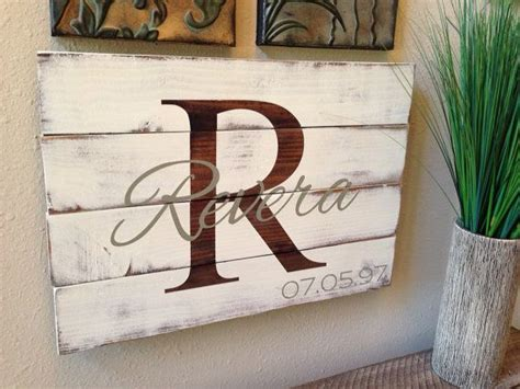 reclaimed distressed pallet wood family  personalized