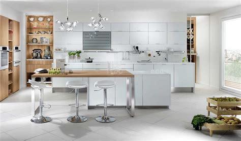 cuisine et blanc cuisine blanc laqué et bois galerie et cuisine blanc laque