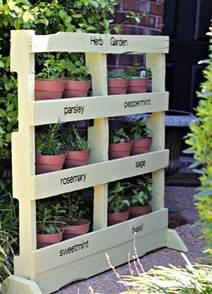 diy pallet vertical herb garden the owner builder network