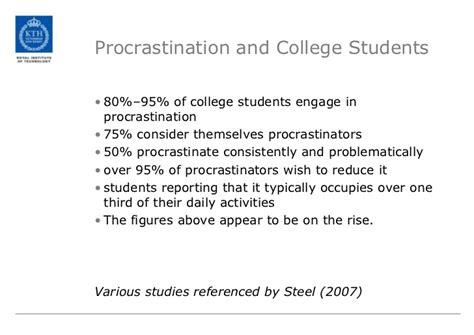 teaching procrastination    helping students