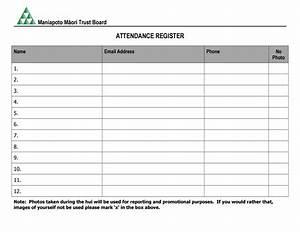 Mmtb Attendance Register Template By Maniapoto M U0101ori Trust