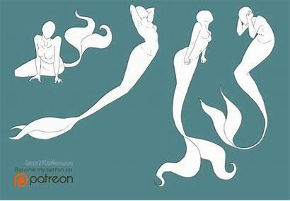 Pose Poses Deviantart Mermaid Drawing Bases Mer