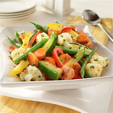 steamed vegetables with herb stir ins recipe land o lakes