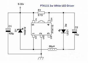 Pt4115 Application Circuit Diagrams