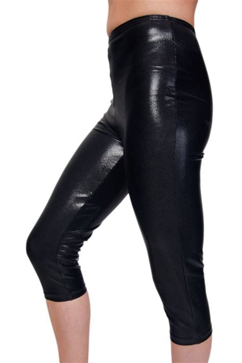 turnhose capri leggings metallic sheen diverse farben