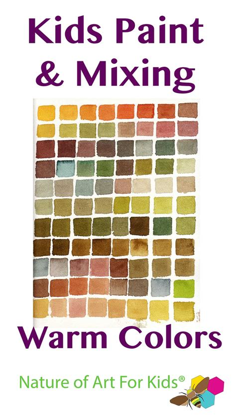 Mixing Paint Into Warm Autumn Colors Painting Lesson For