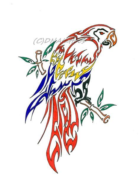 cute parrot tattoo designs