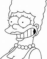 Marge Coloring Simpson Simpsons Smiling Imprimer Coloriage Pages1 Drawings Margesimpson Coloriag sketch template