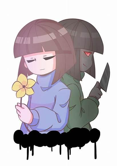 Chara Undertale Frisk Fanart Asylumtale Anime Sans