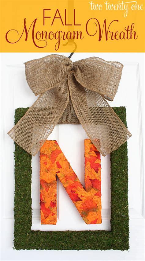 fall monogram wreath diy