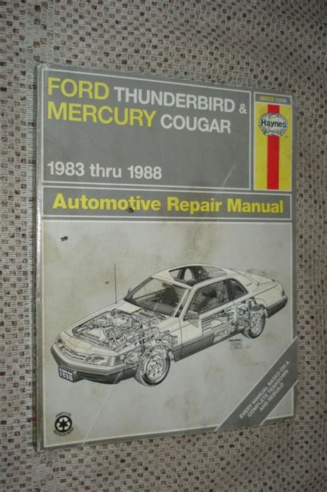 download car manuals 1989 ford thunderbird free book repair manuals sell 1983 thru 1988 ford thunderbird mercury cougar shop manual service book motorcycle in carl
