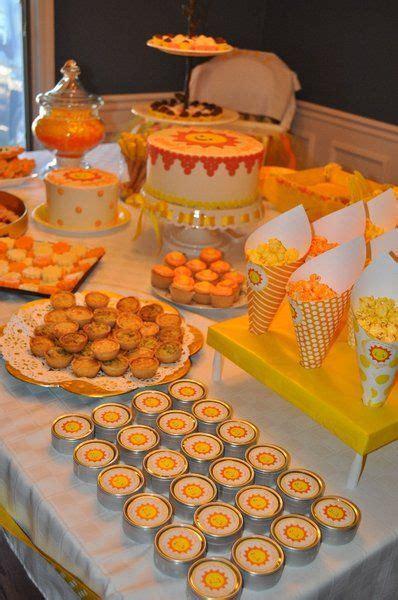 sunshine party orange  yellow food