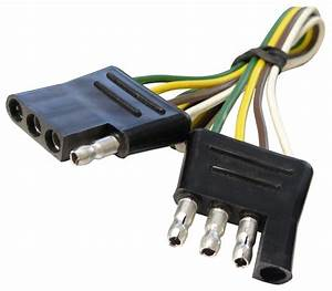 12 U0026quot  Wire Harness - 4-way Flat Connector - Car And Trailer End Loop - Wire