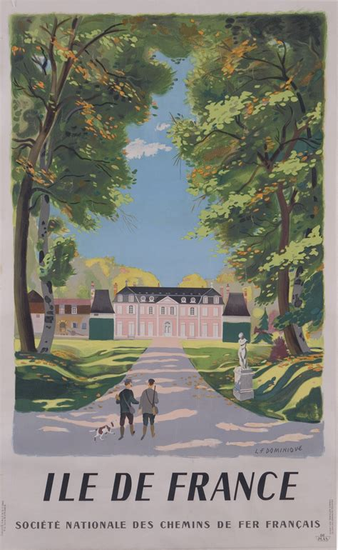 original vintage poster ile de france  sale