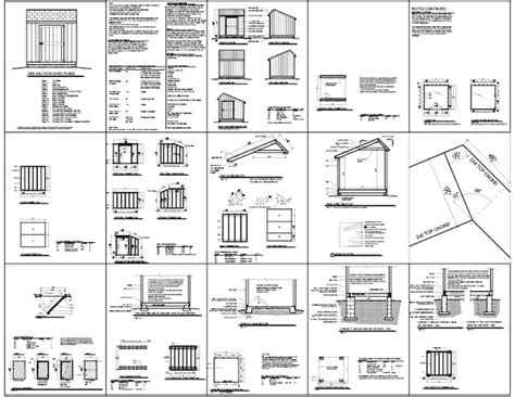 Saltbox Shed Plans 12x20 by Zone Plans